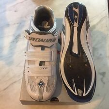 New Women's Specialized Pro Road Shoes Size 40 Carbon Sole White/Royal