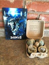 ALIEN NECA 30th Anniv. LV-426 Cage-Free Glowing Eggs (Loot Crate) + Aliens sign