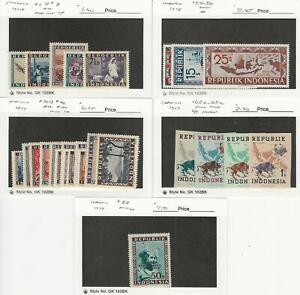 Indonesia, Postage Stamp, #1//85 Mint LH & Hinged, 1948-49, JFZ