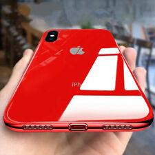 Funda Para i Phone X XR XS Max 8 7 6 Plus caso plateado templado vidrio con Logo