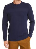 Club Room Mens Sweater Blue Size 2XL Textured Knit Crewneck Pullover $50 185