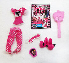 Monster High Draculaura Dead Tired Complete Outfit Shoes Accessory Lot Set