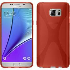 Coque en Silicone Samsung Galaxy Note 5 - X-Style rouge + films de protection