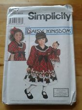 """SIMPLICITY SIZE HH SIZE 3-4-5-6 CHILDS DRESS & DOLL DRESS FOR 18"""" DOLL"""