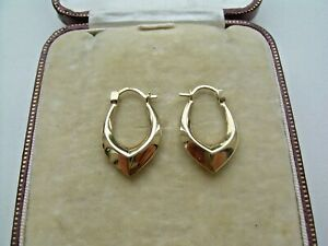Vintage 9ct Gold Creole Style Earrings.
