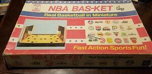 1980 NBA Bas-Ket Basketball Game in Miniature (No Basketballs)