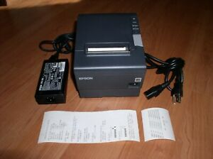 Epson TM-T88V M244A USB/Serial Thermal Receipt Kitchen Printer, w/Power Adapter