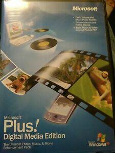 Microsoft Plus Digital Media Edition Software Disc For Windows XP w/ Keys