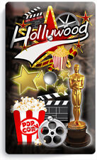 HOLLYWOOD TV ROOM MOVIE THEATER LIGHT DIMMER VIDEO CABLE WALL PLATES HOME DECOR