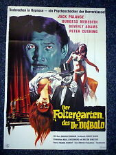 TORTURE GARDEN Original 1960s German Movie Poster Jack Palance, Peter Cushing