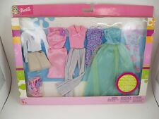 Barbie Doll Fashion Bright Colorful Styles C3330 Mattel NEW 6 Outfits Shoes NIP
