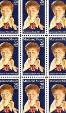 1990 - Marianne Moore - #2449 Full Mint -Mnh- Sheet of 50 Postage Stamps