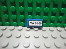 Lego 1 Blue 1x2 tile with sticker of license plate CA 0108 pattern