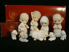 Precious Moments-9 Piece Large Nativity Set With Tape & Box-$160V