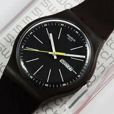 swatch new gent blue browny orologio uomo donna datario da collezione