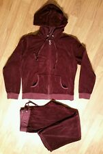 New York & Comany NY&C Womans Velour V-Neck Hoodie Pants Large 2PC