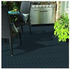 10 Garden Composite Interlocking Decking Tiles Recycled Material 30 X 30cm