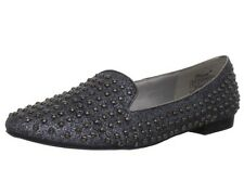 *NEW with Box Women's Wanted Shoes Studded Pewter Silver Glitter Flats Size 8 M
