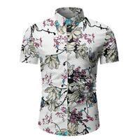 Business Luxury Shirt Mens Slim Fit Floral T Shirt Dress Shirts Stylish Casual