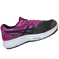 ASICS WOMENS Shoes Stormer - Carbon, Black & Pink Glow - T791N-9790
