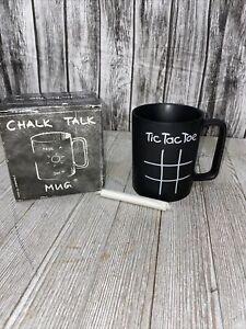 Konitz Tic Tac Toe Chalk Talk 12-Ounce Mug, Black, Gift Boxed Bb