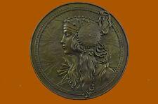 French Roman Greek Mythological Bronze Statue Bas Relief Sculpture Art Nouveau