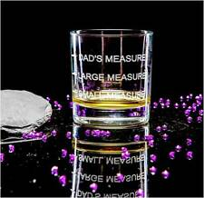 Personalised Engraved Whisky Tumbler Glass  3 Measures or own message, gift box