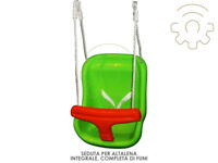 Seduta sedia per altalena con funi da appendere per bimbi giardino bambini gioch