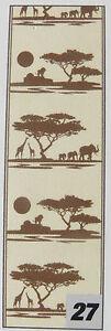 Popup Panel Wandtattoo Livingwalls Savanne Afrika selbstklebend 35x250cm 942262