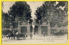 cpa FRANCE 75 - PARIS PARC MONCEAU Grille de l'Avenue VAN DYCK Rue de Courcelles
