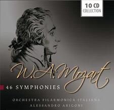 Mozart COMPLETE SYMPHONIES, A. Arigoni, orchestra filamonica italiana, 10cd BOX