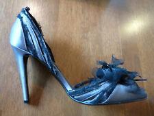 "Patrick Cox gris ""Fleur Chaussure Stiletto"" l'UE 39/40 £ 325 BNIB"