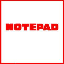 Sizzlits NOTEPAD Alphabet Set 35 dies #654550 Retail $149.99 Retired, BOLD!!