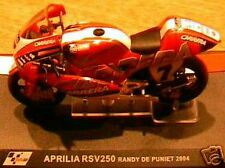 MOTO GP BIKE APRILIA RSV 250 RANDY DE PUNIET 2004 1/24E