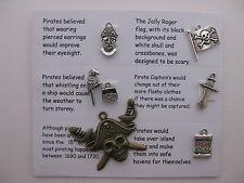 Pirate charmes pour le scrapbooking, carte et bijoux making - 7 charmes avec des guillemets