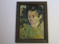 FIRSCHEIN PAINTING ABSTRACT EXPRESSIONISM MID CENTURY MODERN PORTRAIT 1950'S