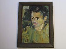 FIRSCHEIN PAINTING ABSTRACT EXPRESSIONISM MID CENTURY MODERN PORTRAIT 1950'S