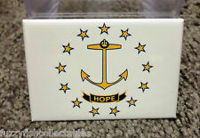 "Rhode Island State Flag  2"" x 3"" Refrigerator Locker MAGNET"
