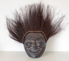 Bondres Mask Wooden Hand Carved With Palm Husk Hair.....