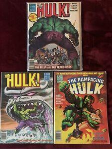 The Hulk no.13 & 22 + The Rampaging Hulk no.8 Lot