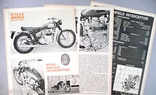 Royal Enfield Interceptor Motorcycle Review MAGAZINE ARTICLE - 1965