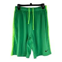 Nike Dri-Fit Mens Large Green Drawstring Athletic Shorts Activewear Basketball