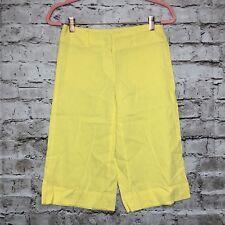 Women's Theory Bright Yellow Bermuda Knee Length Dress Shorts Size 2
