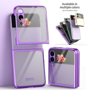 For SamsungGalaxyZFlip35G Lightweight Transparent Fold Phone Case Cover
