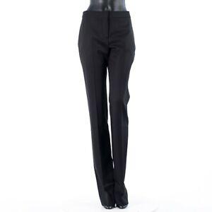 ALEXANDER MCQUEEN 890$ Trousers In Black Virgin Wool