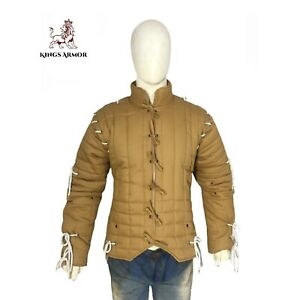 Gambeson | Aketon | Padded Jacket | Arming Doublet | Camel Color | Size S to 3XL