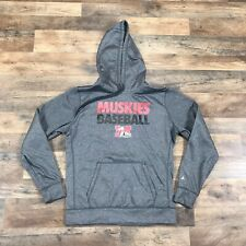 Muskingum University Muskies Baseball Hoodie Sweatshirt Womens Large Mens Medium