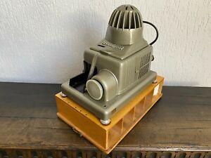 Antique Braun Nürnberg Paximat Electric Dia Projector Incl. Suitcase +Power Cord