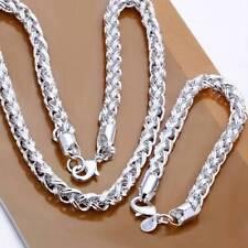 Silberkette Armband Set Sterlingsilber pl. 925 königskette silberkette 50cm a2