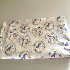 Pillowfort Horse Full Flat Sheet Purple Girls Equestrian Pony